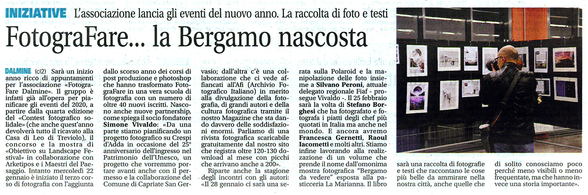 fotograFARE……..la Bergamo nascosta
