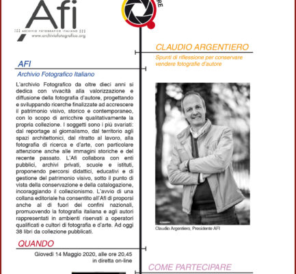 Meeting con Afi Archivio Fotografico Italiano