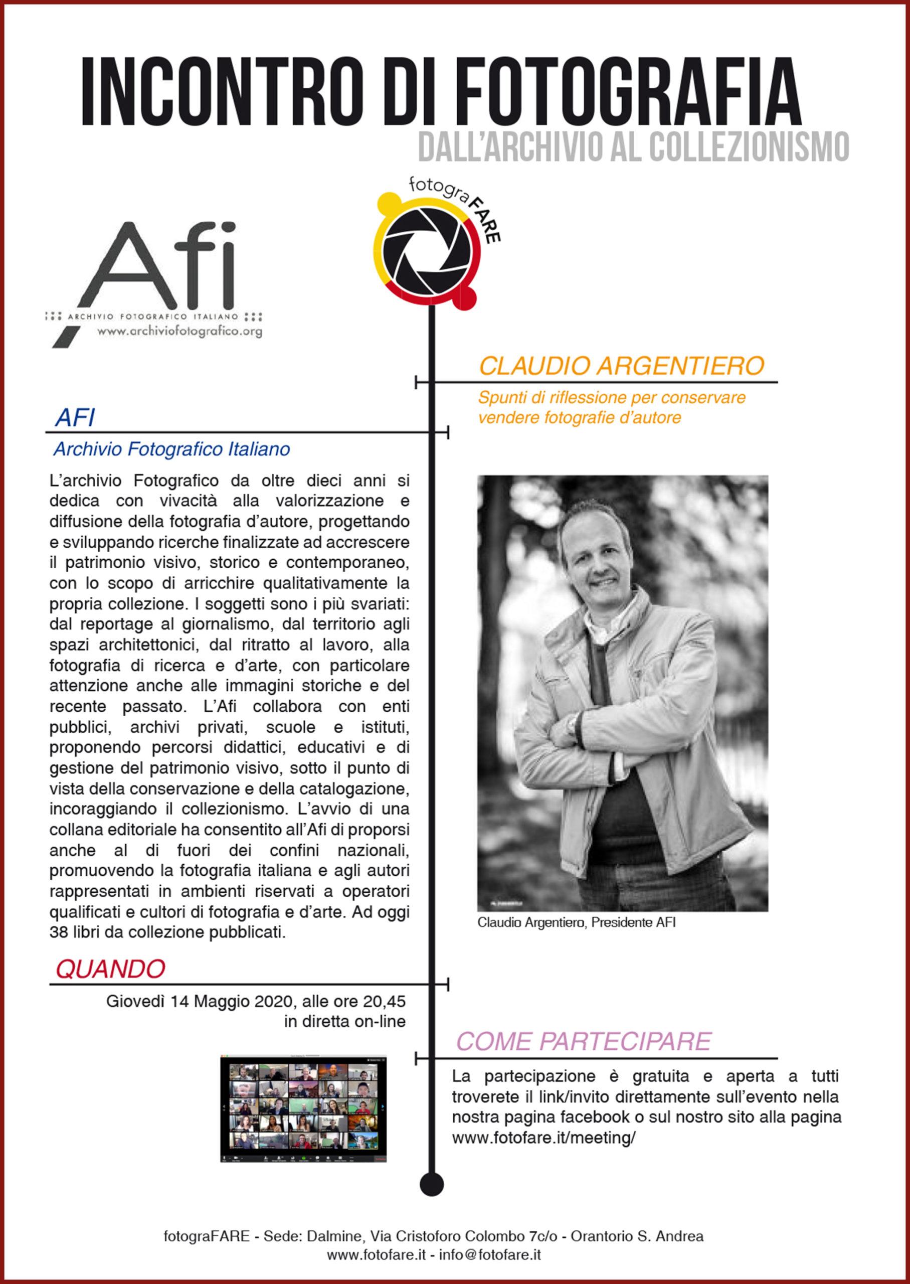Meeting con Afi Archivio Fotografico Italiano